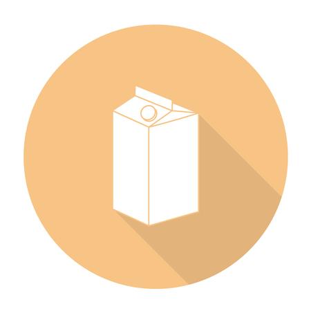 carton de leche: Blanca cart�n de leche del vector en c�rculo color de fondo.