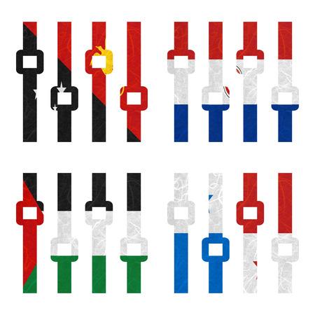 bandera panama: Bandera de la naci�n. Amplificador de papel reciclado en el fondo blanco. (Palestina, Panam�, Papua Nueva Guinea, Paraguay)