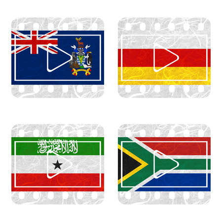somaliland: Nation Flag. Film recycled paper on white background. ( Somaliland , South Africa , South Georgia and the South Sandwich Islands , South Ossetia )