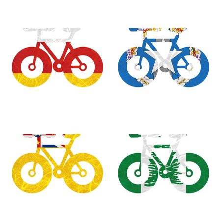niue: Nation Flag. Bicycle recycled paper on white background. ( Niue , Norfolk Island , North Ossetia , Northern Mariana Islands )