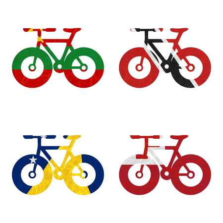 tokelau: Nation Flag. Bicycle recycled paper on white background. ( Tokelau , Tonga , Transnistria , Trinidad and Tobago )