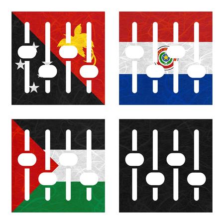 bandera de panama: Bandera de la nación. Amplificador de papel reciclado en el fondo blanco. (Palestina, Panamá, Papua Nueva Guinea, Paraguay)