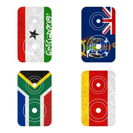somaliland: Nation Flag. Loudspeaker recycled paper on white background. ( Somaliland , South Africa , South Georgia and the South Sandwich Islands , South Ossetia ) Stock Photo