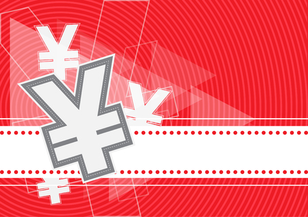 Money icon yuan yen vector design, business background Illustration