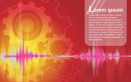 Fond de vecteur de l'image sonore abstraite pour utilisation dans le design Banque d'images - 86047538