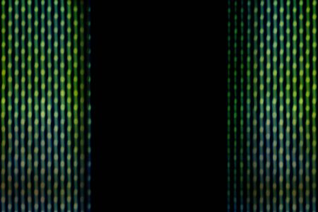 green line: Abstract blur green line black center background from led panel