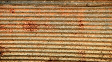 rust: rust metal exterior of an old building. Stock Photo