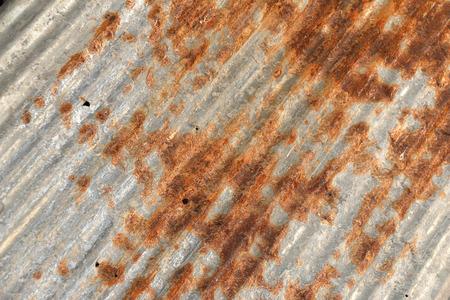 corrugated metal: Rusted metal corrugated metal background