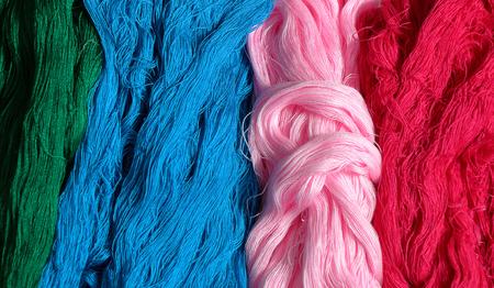 silk thread: Colorful silk thread for background.