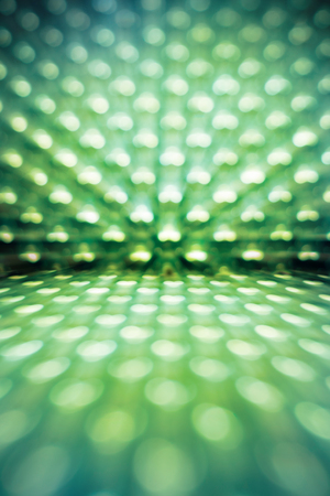 blur green led light for abstract background