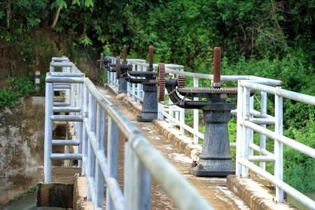 dams: floodgates of dams, irrigation systems