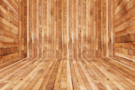 rough wooden parquet texture of floor decoration inside room, empty sauna room