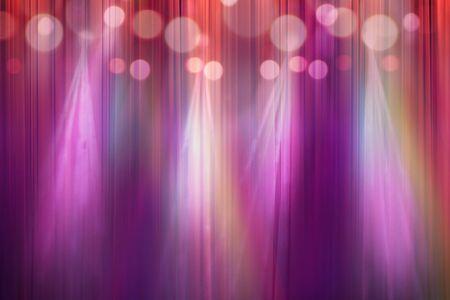 blurred colorful lights on stage, abstract image of concert lighting, defocus of light in cinema Foto de archivo - 132125894