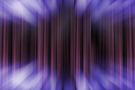 blurred theater stage with purple curtains and spotlights, abstract image of concert lighting Stockfoto - 137877651