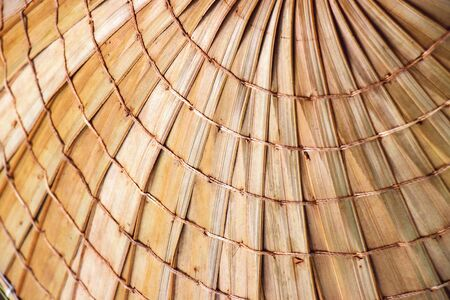 texture of asian conical hats in tourists' souvenir markets in Thailand Standard-Bild