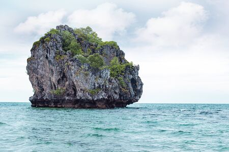 a small uninhabited tropical island in the gulf of Thailand