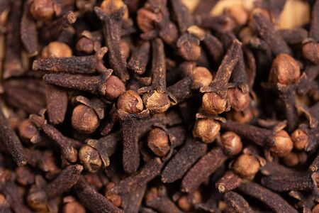 close up of clove dried spicy herb for food aroma and natural medicine, ingredient in Indian spices