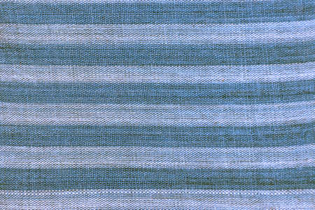 texture of blue and white striped cotton fabric background. Standard-Bild
