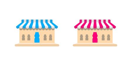 Shop concept design icon