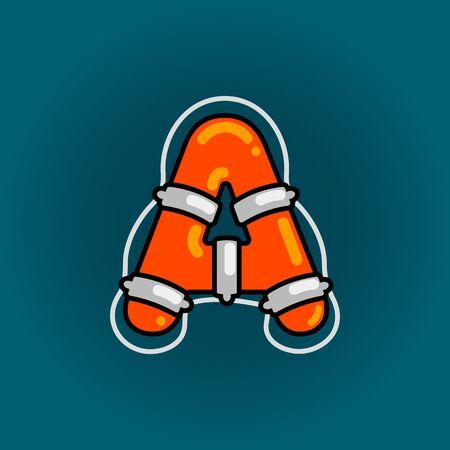 Lifebuoy font vector A alphabet in cartoon style