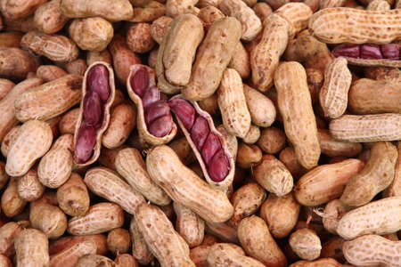 Ready to eat boiled peanuts.