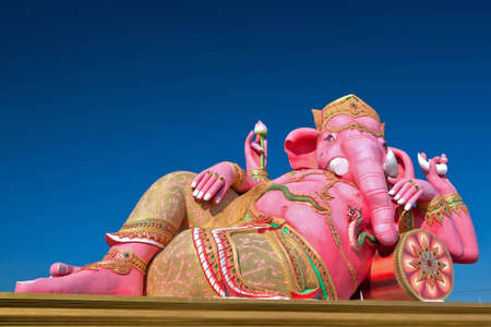 Lord Ganesh is sleeping posture.