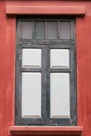 Old wooden windows are closed  photo