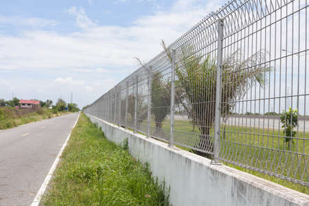 Steel fence along the road  Stock Photo - 14216980