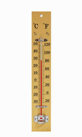Mercury thermometer  To check the temperature of the air  Stock Photo