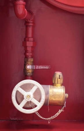 Valves for water supply for fire fighting within the building. photo
