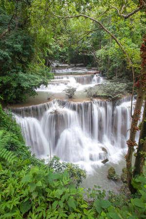 Huay Mae Khamin Four Level, Kanchanaburi Province, Thailand Stock Photo