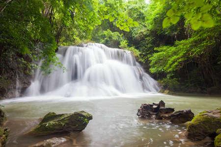 Huay Mae Khamin three Level, Kanchanaburi Province, Thailand photo