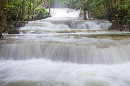 Huay Mae Khamin, la province de Kanchanaburi, Tha�lande