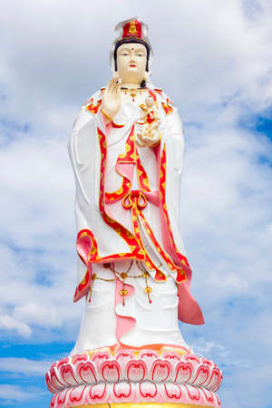 Kuan Yin who is white with blue sky Stock Photo - 14838135