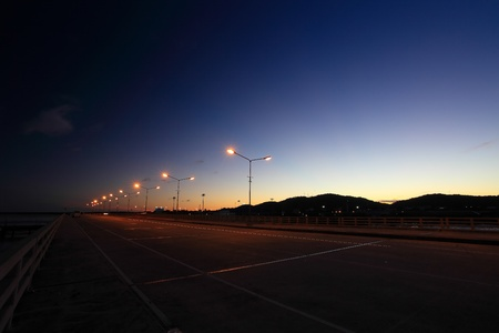 Street light the night sky is beautiful  photo