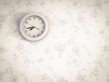 Horloge classique sur le mur Banque d'images