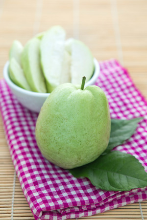 brazilian caribbean: Fresh guava fruit on the ground Stock Photo
