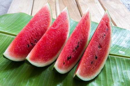 pieces of watermelon Stock Photo