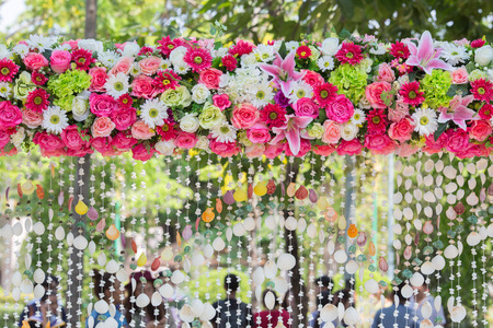 archway: archway of many beautifil flowers