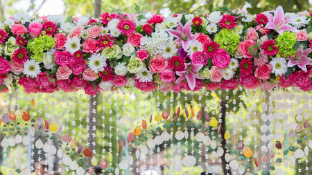 archway of many beautifil flowers