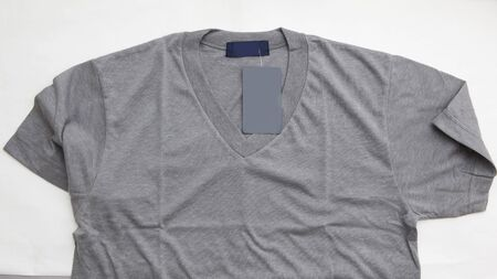 Shirt with white label