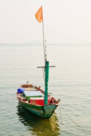 Native Thai style Thai boat photo