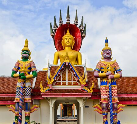 budda temple giant   thailand