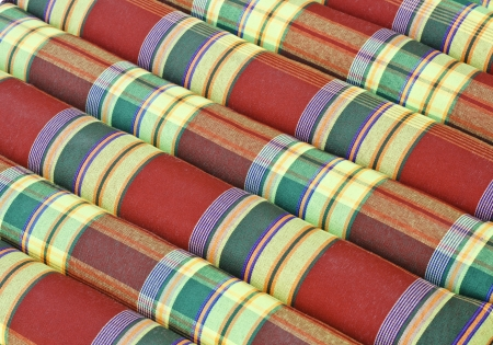 STRUCTURE OF THAI  FABRIC   Stock Photo