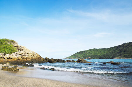 the phuket beach in thailand Stock Photo