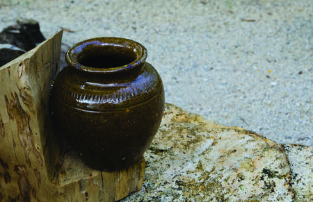 Traditional earthenware jar in south  of Thailand  photo