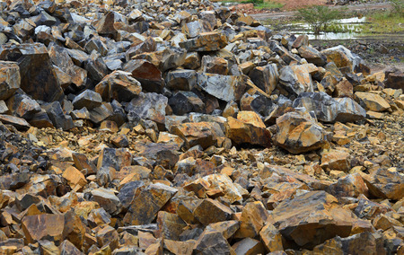 Limestone quarry in Thailand. photo