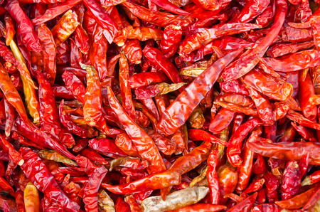 dry the red chili peppers