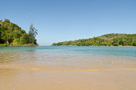 Amzing beautiful beach and tropical sea  with  sand and turquoise water at phuket thailad