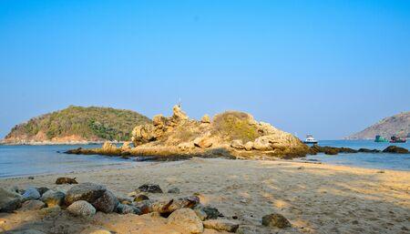 Rocks and stones at the phuker beach